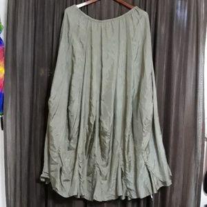 Very thin, weightless silk skirt s XL